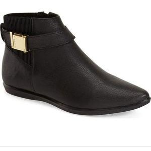 Calvin Klein black leather Voletta booties